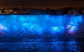 آبشار نیاگارا یخ زد