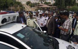 رونمایی از جدیدترین خودروی راهنمایی و رانندگی استان هرمزگان