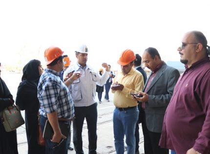 بازدید خبرنگاران از روند ساخت بزرگترین کشتی تفریحی ساخت ایران