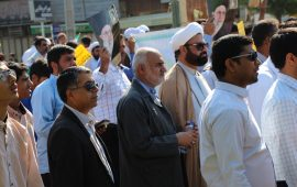 حضور هنرمندان هرمزگان در راهپیمایی روز ۱۳ آبان