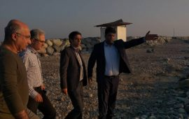 گزارش تصویری  بازدید نمایندگان سازمان برنامه و بودجه استان هرمزگان  به همراه آقای فیصل دانش عضو شورای شهر بندرعباس از سایت گردشگری خورشید مکران، واقع درراسکله شهید حقانی