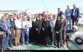 بازدید مدیران روابط عمومی استان ازظرفیتهای بندرشهید رجایی