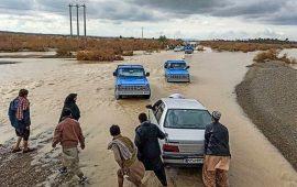 سیل مجدداً راههای ارتباطی۱۸۴ روستای بشاگرد هرمزگان را مسدود کرد