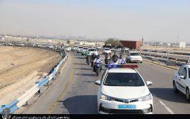 برگزاری رژه خودرویی و موتوری در بندر شهيد رجايي