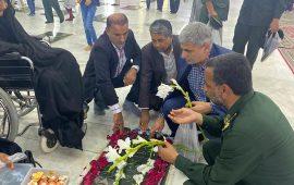 تجدید میثاق مسئولان  وهنرمندان هرمزگانی با آرمان های امام(ره) و شهدای انقلاب